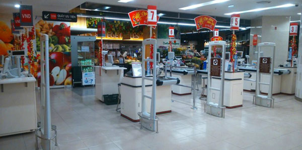 cổng từ an ninh tại siêu thị